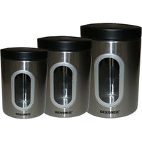 BERGNER STAINLESS STEEL CANISTER SET OF 3PCS BG 5013