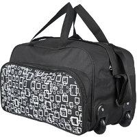 3G Yellow & Black Polyester Duffel Bag (2 Wheels)