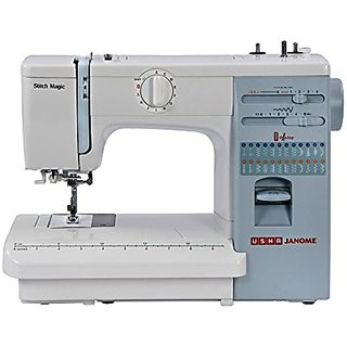 Usha Janome Automatic Stitch Magic 85Watt Sewing MachineWhite and Blue available at ShopClues for Rs.16000