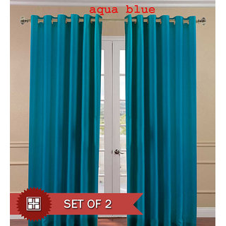 ShopClues: Flano Plain Silky Door Curtain (Pack of 2) – 10 option @249