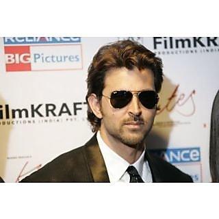 Sunglasses Aviator Rutik Roshan Black -frame-Black-lens-aviator-sunglasses