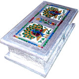 Decorative Handmade Dry Fruit Box - 3 Sections - MEENAKARI ART