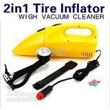 New 2 IN 1 Inflator Air Compressor Portable Handheld Mini Car Vacuum Cleaner Hom