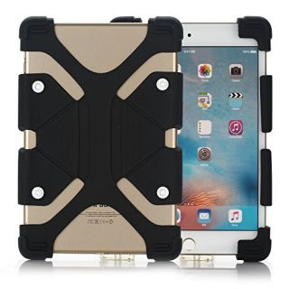 Universal 7.9-9.0 inch Tablet PC Case  Dteck(TM) Drop Proof Rugged Case Kickstand Portable [Reinforced Corners] Adjustable Body Back Cover for All 7.9-9.0 inch Apple iPad Samsung Tablets (01 Black)