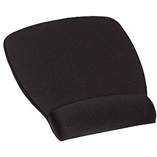 Mouse Pad with Wrist Rest Black Antimicrobial Product Protection