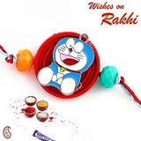 Metallic Motif Doraemon Rakhi