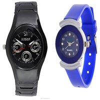 IIK Collction Black and  Simple Blue  Women Watches Couple for Men and Women