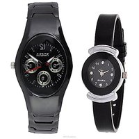 IIK Collction Black and  Simple Black  Women Watches Couple for Men and Women