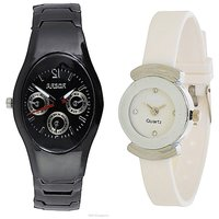 IIK Collction Black and  Simple White  Women Watches Couple for Men and Women