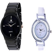 IIK Collction Black and  Glory White  Ring Women Watches Couple for Men and Women