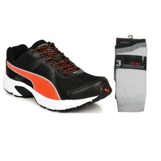 Best Combo Offer PUMA Aiko Sports Running Shoes with TNF Socks set of 3.