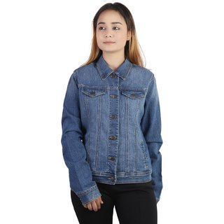 Kotty crop denim jacket in blue