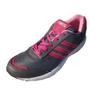 Port Womens Pink Tictoe 2 Mesh Runing Shoes