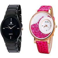IIK Collction Black and  Mxre  Men Watches Couple for Men and Women