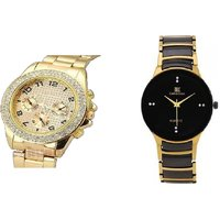 iik golden and paidu silver New Stylish Analog Watch for men Combo of 2 by  Unique Enterprise