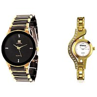 IIK Collction Black and Gold and Goly gold Cuple Watches
