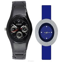 IIK Collction Black and  latest Blue  Women Watches Couple for Men and Women