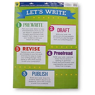 Teaching Tree Large Educational Wall Posters - Writing Guides - Set of 2 - 17'' x 21.5''