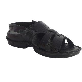 Lee Peeter Mens Black Sandals