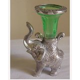 Elephant Candle Holder Green