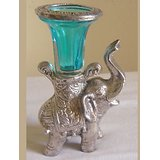Elephant Candle Holder Blue