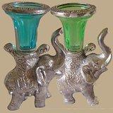 Set Of Elephant Candle Holder