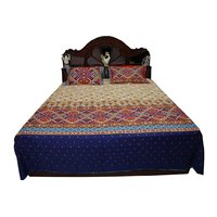 Bombay Dyeing Cotton Double Bed Sheet Printed Carnival Soul Cream 254X274Cms