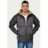 Luxemburg Reversible Rain & Winter Jacket Windcheater Padding Coat - Black - XL