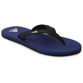 Adidas Mens Black & Blue Flip Flops