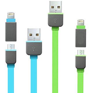Lightning 8 Pin+Micro USB Sync & Charging Cable fr Ipad Air Htc Xperia Motorola