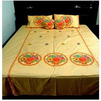 Royal Designer FANCY Double Bed Bedsheet Withs Pillow Cover +s CUSHION TD-1344