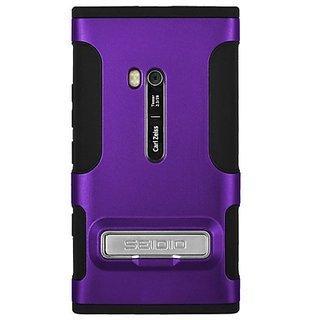 Seidio CSK3NK900K-PR DILEX Case with Metal Kickstand for use with Nokia Lumia 900 - Amethyst