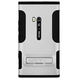 Seidio CSK3NK900K-GL DILEX Case with Metal Kickstand for use with Nokia Lumia 900 - Glossed White