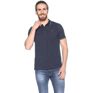 EX10SIVE Mens Cotton Blend INDIGO Polo Tshirt