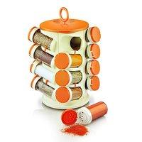 Pogo 16 Jar Revolving Multipurpose Rack - White & Orange