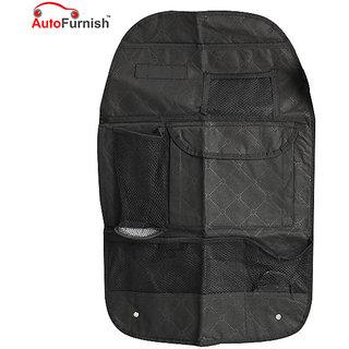 Autofurnish 7 Pocket Automotive Car Back Seat Organiser With Umbrella Holder