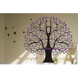 Big Tree With Butterflies Wall Decal (W X H) Inches52 X 47