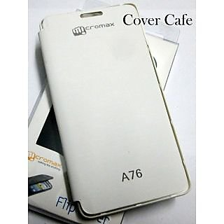 For Micromax Canvas Fun A76 Flip Cover White available at ShopClues for Rs.195