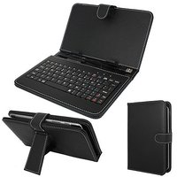 """7"""" Premium Leather Tablet Cover Case With Keyboard For Samsung Galaxy Tab 2 P3100/3110 + OTG Cable Free Worh Rs 150/"""