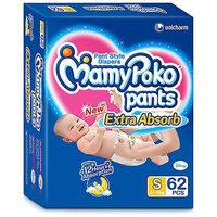 Mamy Poko Extra Absorb Pant Style Diaper Small - 62 Pieces