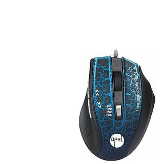 Opal USB Wired 6 button mouse SF-8196 Blue