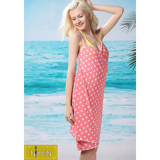 Nitein Polyester Peach Beach Cover Up's
