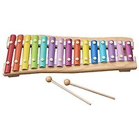 Zewik 15 Note Colorful Xylophone Kids Wooden Musical Instrument Toy,Hand Knock Piano Educational Toy for Kids Best Gift
