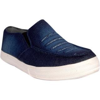 Women Blue Slip on Loafers