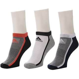 Adidas Unisex Coloured Low Cut Socks - Pack Of 3