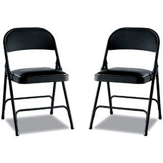 Gioteak Folding chair in black color 2 set