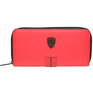 Puma Red Canvas Clutch Wallet For Womens available at ShopClues for Rs.2499 43ccbb043875b