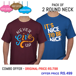Printed T-shirts Combo Offer Pack Of 2