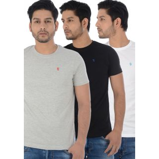 KILLER Multicolor Combo Pack Of 3 Men'S T-Shirt