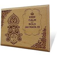 Bolo Jai Mata Di Wooden Engraved Plaque
